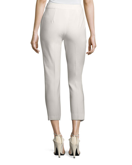 Cropped Slim-Leg Pants