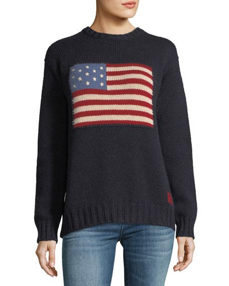 Ralph Lauren Collection Crewneck Long-Sleeve Cashmere Pullover