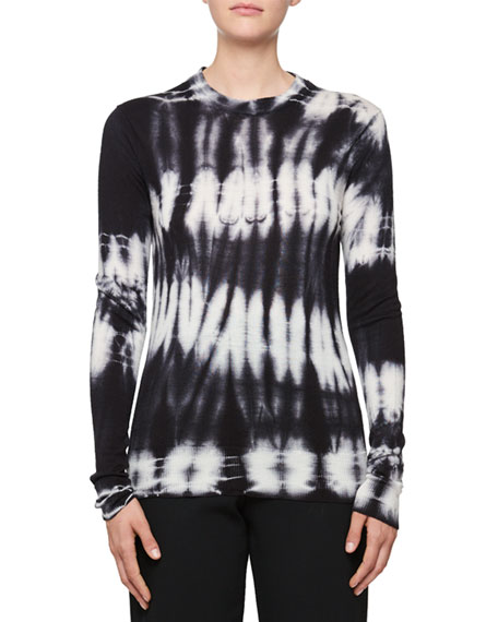 Crewneck Long-Sleeve Wool Top