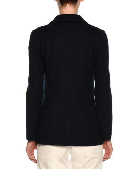 Two-Button Cashmere Jersey Classic Blazer
