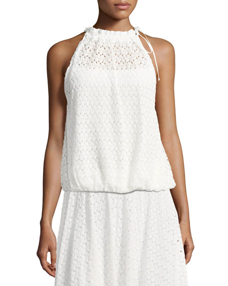 Sleeveless Lace Halter Top