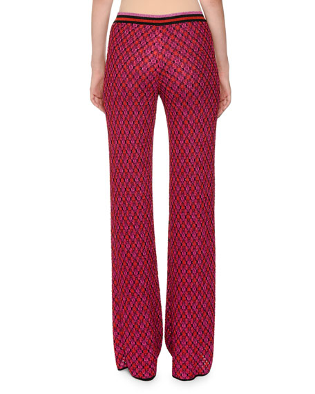 Multicolor Wide-Leg Knit Pants