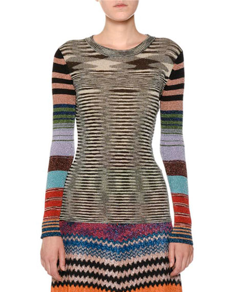 Missoni Multicolor Knit A-Line Maxi Skirt and Matching