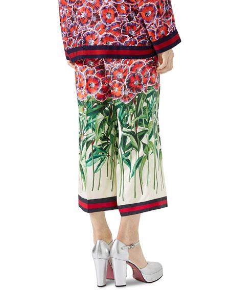 Poppy Garden-Print Pajama Pant