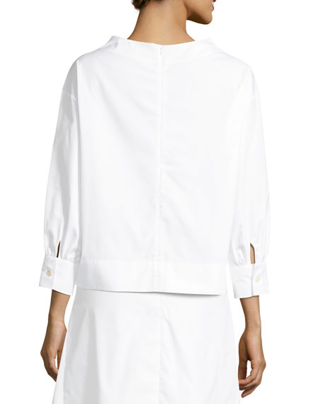 Jeudi Long-Sleeve Poplin Blouse