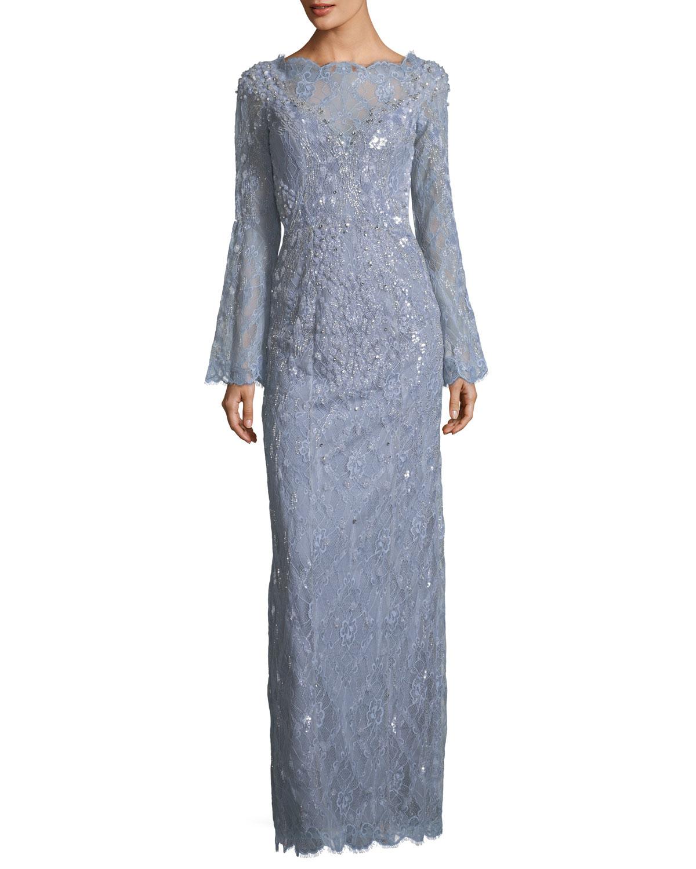 Jenny Packham Blue Gown | Neiman Marcus