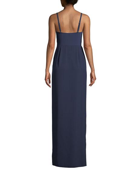 Scoop-Neck Sleeveless Column Slip Evening Gown
