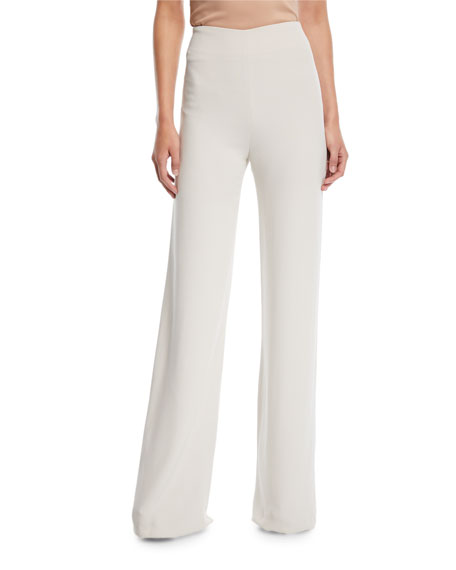 Side-Zip Wide-Leg Pants