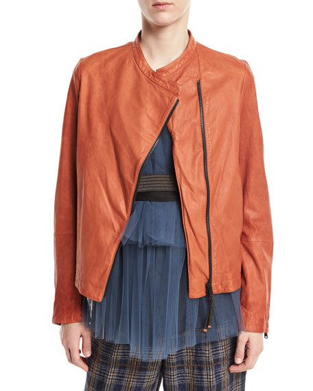 Brunello Cucinelli Tiered Pleated Tulle Top with Monili