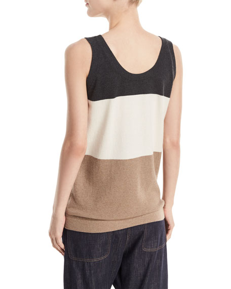 Ideals Scoop-Neck Sleeveless Cashmere Tank