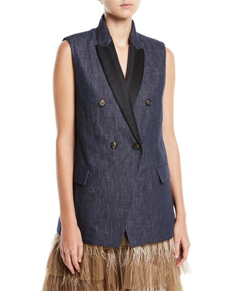Brunello Cucinelli Tiered Tulle Feathered Midi Skirt and