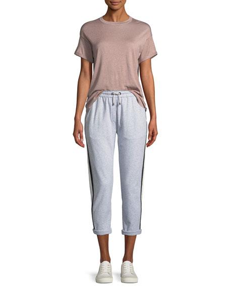 Felpa Jogger Pants with Varsity Stripe