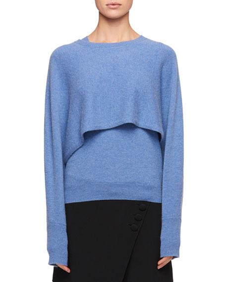 Chloe Diagonal-Front Crepe Mini Short-Skirt and Matching Items