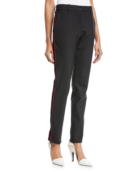 CALVIN KLEIN 205W39NYC Straight-Leg Wool Pants with Side
