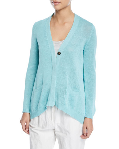 Knit One-Button Cardigan
