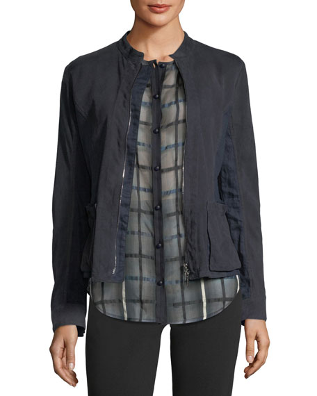 Emporio Armani Zip-Front Suede Jacket and Matching Items
