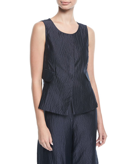 Emporio Armani Scoop-Neck Sleeveless Blouse