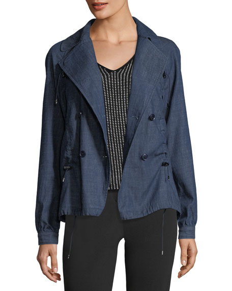 Emporio Armani Double-Breasted Chambray Jacket