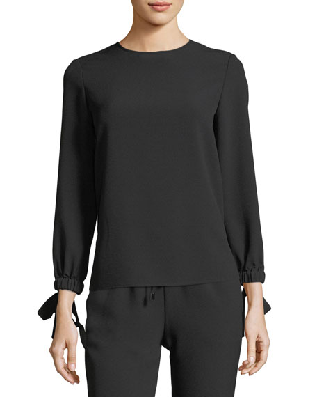 Emporio Armani Tie-Wrist Long-Sleeve Blouse and Matching Items