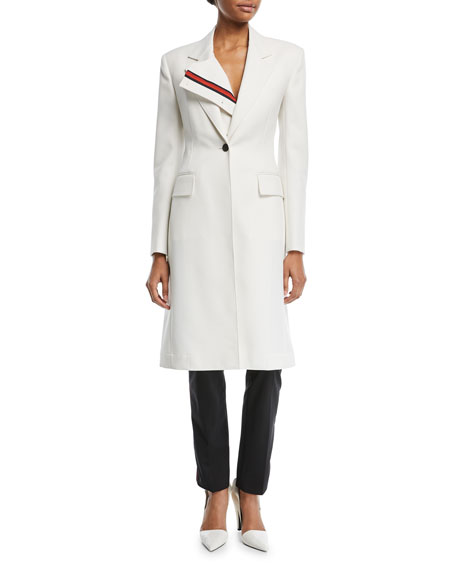 CALVIN KLEIN 205W39NYC Notched-Collar Single-Breasted Coat with