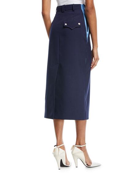 Side-Stripe Pencil Skirt