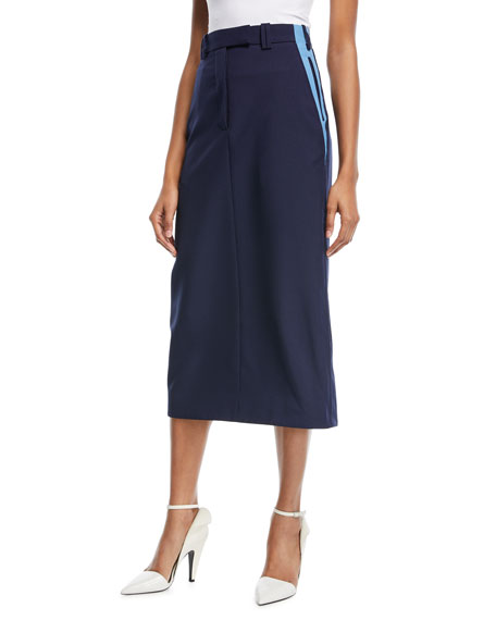 CALVIN KLEIN 205W39NYC Side-Stripe Pencil Skirt