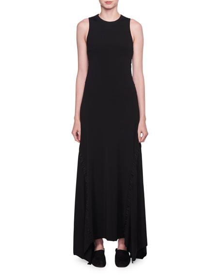 Ojoie Crewneck Long-Sleeve Long Shift Dress