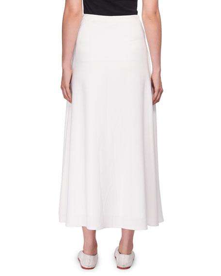 Spreling A-Line Silk Long Skirt