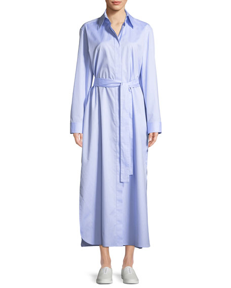 Lira Button-Down Long-Sleeve Shirtdress