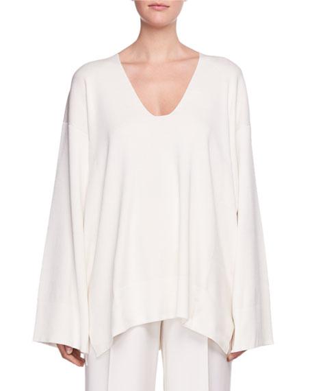 Lesli V-Neck Long-Sleeve Oversized Sweater