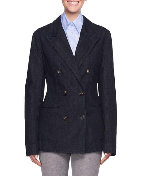 Ruspen Double-Breasted Tailored Denim Jacket