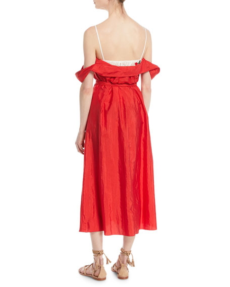 Davi Lightweight Taffeta Cocktail Dress