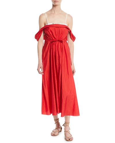 Davi Lightweight Taffeta Cocktail Dress