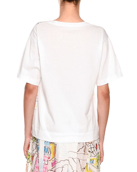 Artist Collaboration Short-Sleeve Jersey Cotton T-Shirt