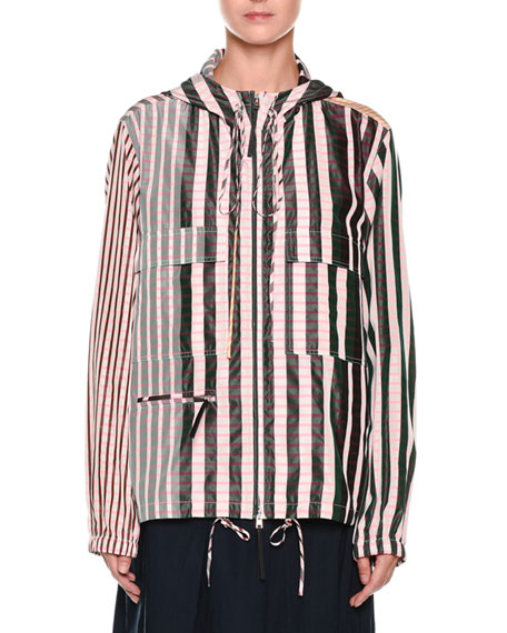 Marni A-Line Mid-Calf Cotton Woven Skirt and Matching