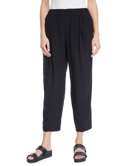 Pull-On Stretch Cropped Pants