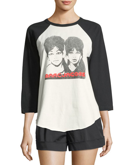 Marc Jacobs Crewneck Raglan Graphic Tee