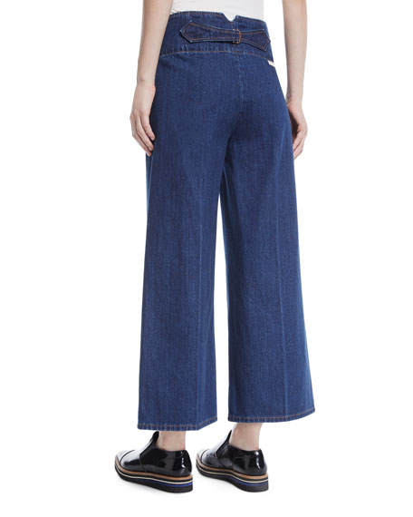 High-Waist Wide-Leg Cropped Jeans