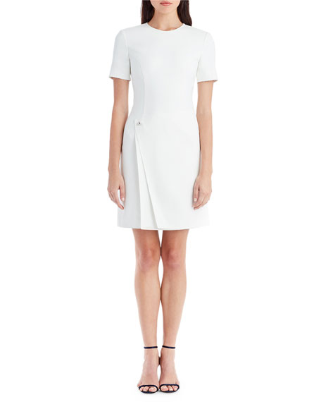 Jason Wu Jewel-Neck Short-Sleeve Sheath Cocktail Dress
