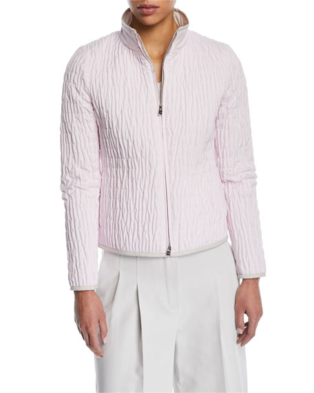 Loro Piana Windmate Quilted Zip-Front Short Jacket