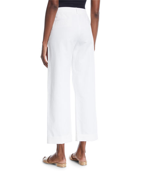 Adam Wide-Leg Ankle Twill Pants