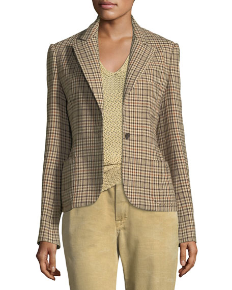 Filmore Overcheck Wool-Blend Jacket