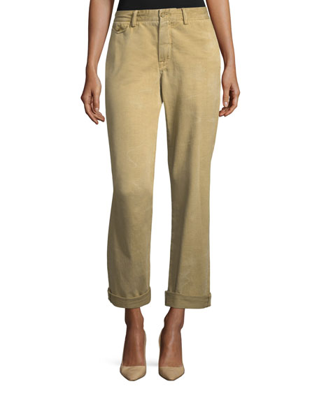 Ralph Lauren Collection Garrison Straight-Leg Twill Cargo Pants