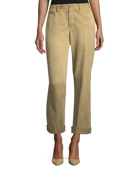 Ralph Lauren Collection Garrison Straight-Leg Twill Cargo Pants