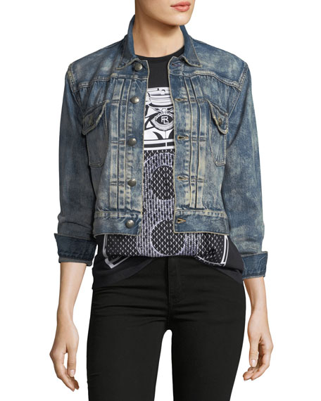 Ralph Lauren Collection Del Ray Cropped Denim Jacket
