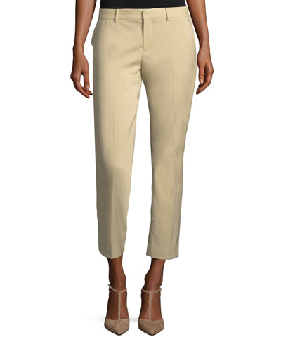 Patrice Straight-Leg Ankle Wool Pants