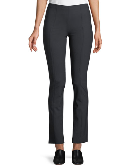 Doco Fitted Straight-Leg Stretch-Wool Pants