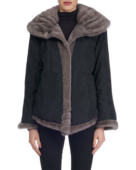 Sheared Mink Fur Reversible Jacket