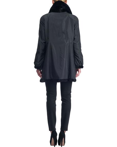 Reversible Sheared Mink Stroller Coat