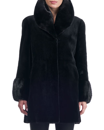 Reversible Sheared Mink Stroller Coat